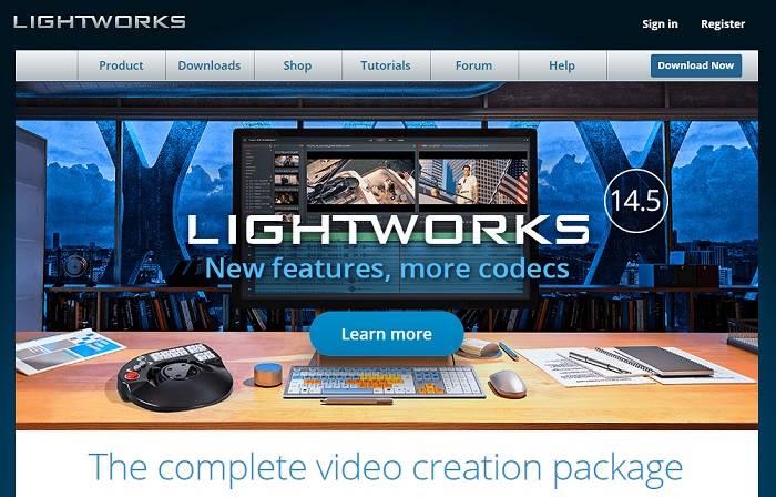 Página de inicio de Lightworksii