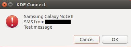 Reciba SMS con KDE Connect en Ubuntu