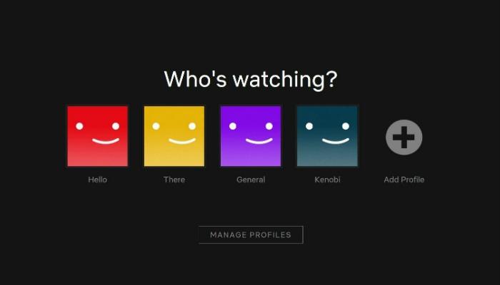 Perfiles de Netflix