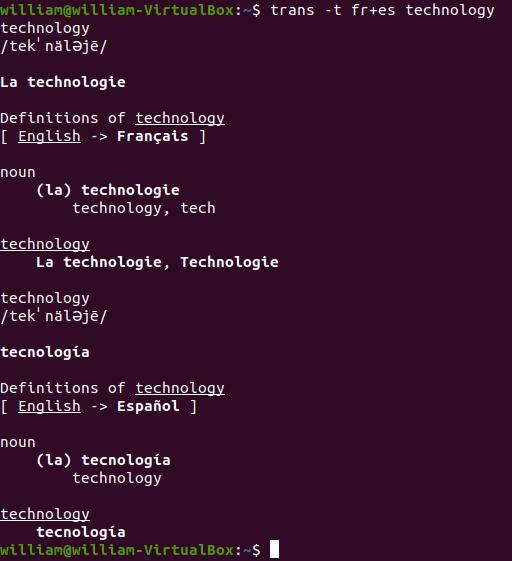 Traducción Traducir Shell a varios idiomas 1