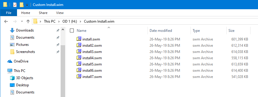 Split Install Wim File Gimagex Split Files