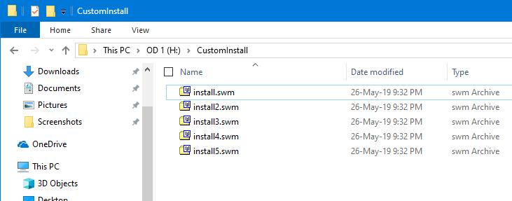 Split Install Wim File Command Dividir archivos
