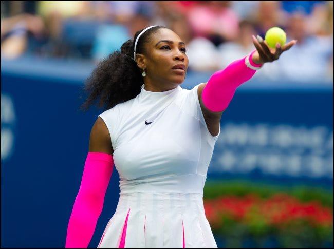 Serena Williams en el torneo de tenis Grand Slam del US Open 2016