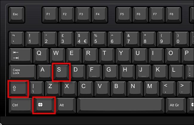 Presione Windows + Shift + S en su teclado.