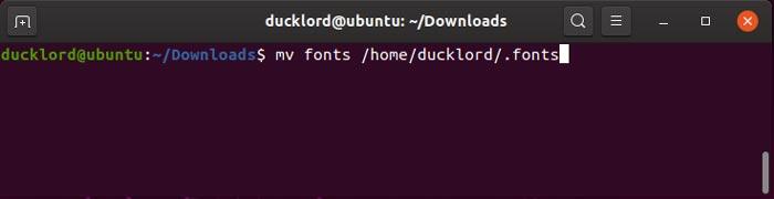 Ms Fonts en Linux Move Fonts