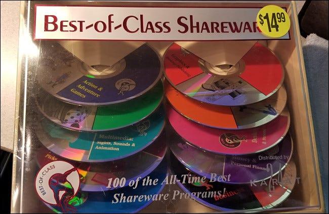 """Colección de CD de Shareware """"Best-of-Class"""""""
