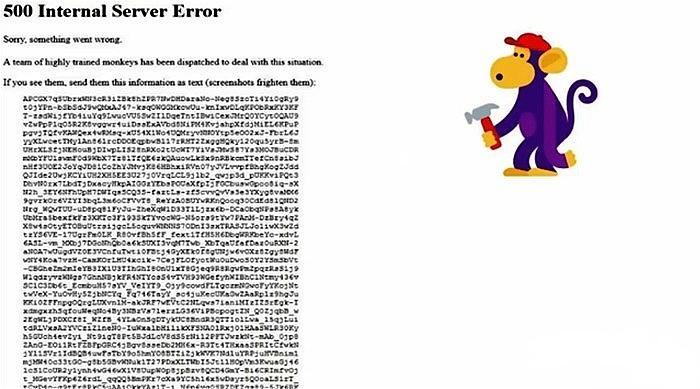 500 Error interno del servidor Youtube