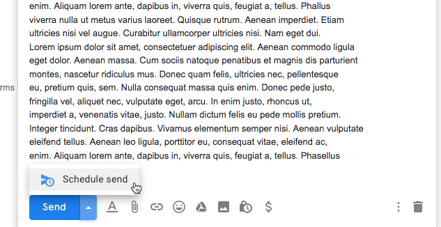 Programar correo electrónico Gmail Programar envío