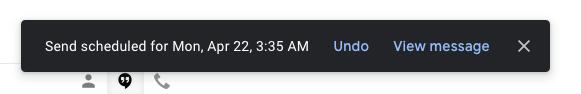 Programar notificación de correo electrónico de Gmail