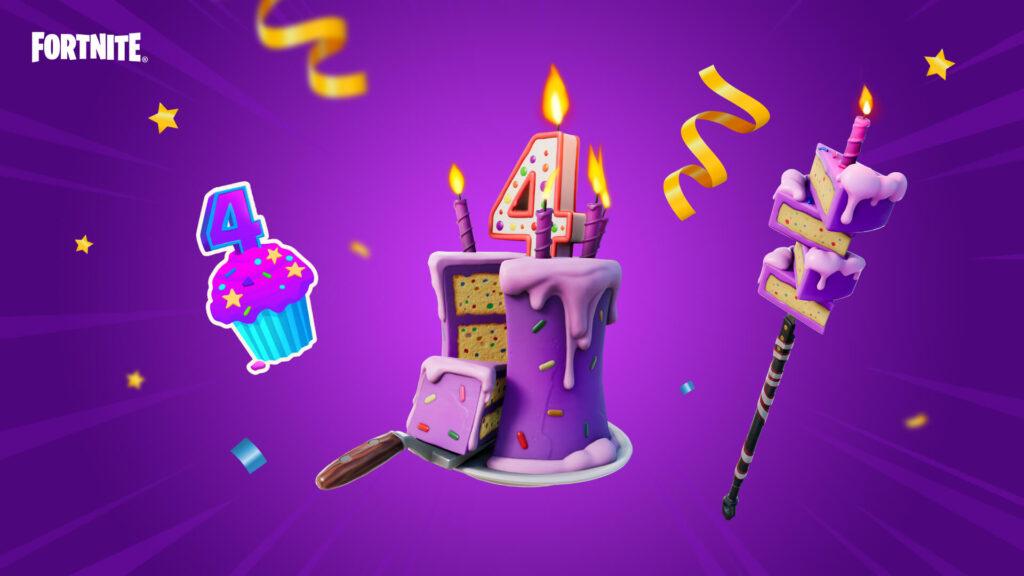 Recompensas temáticas del evento del cuarto cumpleaños de Fortnite