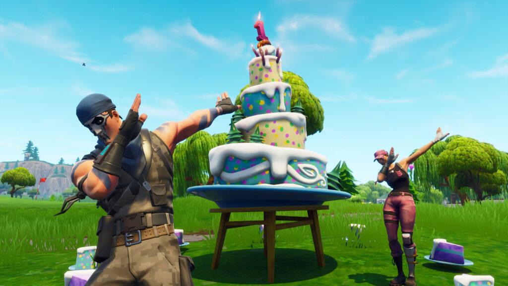 Evento del cuarto cumpleaños de Fortnite