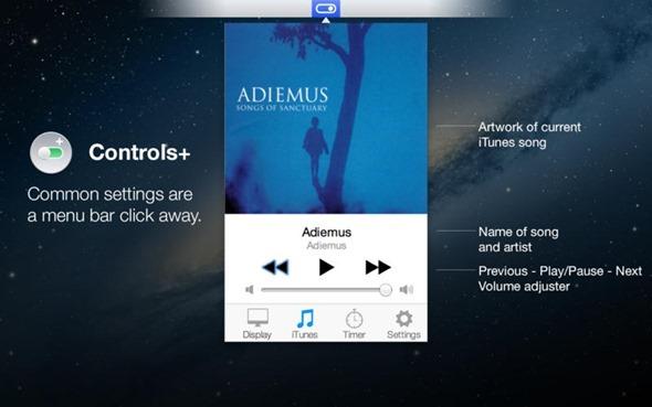 Controles + Mac iTunes