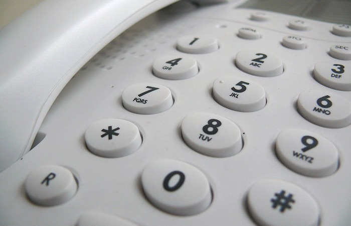 Teclado de estafa de teléfono real