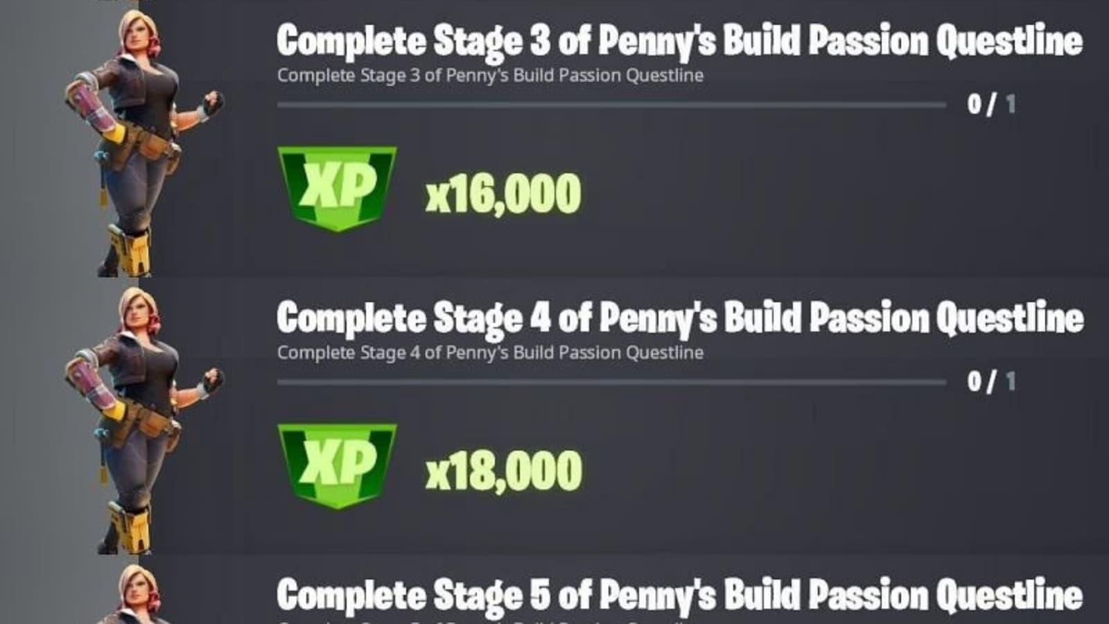 Fortnite Talk to Penny Build Passion desafíos de la línea de misiones: Guía de ubicación en la temporada 8