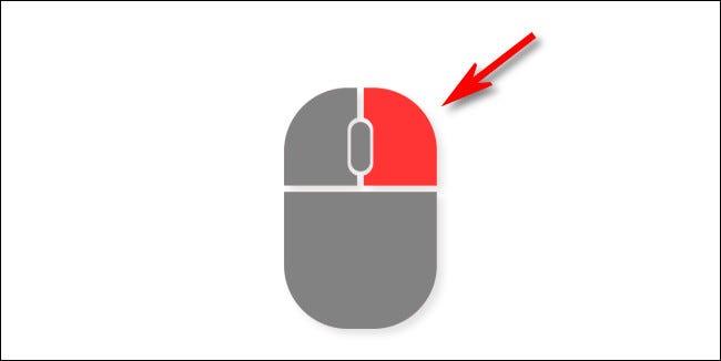 Una ilustración del botón derecho de un mouse.