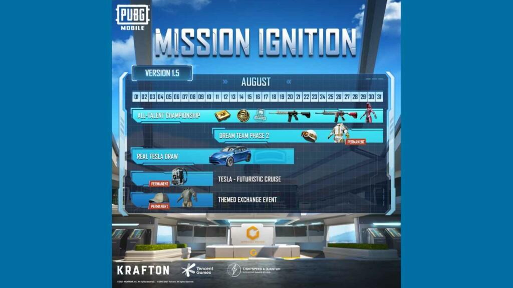 PUBG Mobile Mission Ignition regresará el 5 de agosto de 2021 con Mission Ignition: Reloaded Live Event