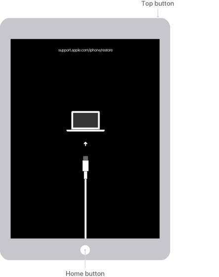 restaurar el botón de inicio del iPad deshabilitado