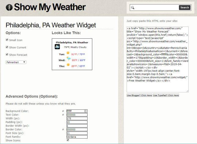 Los widgets meteorológicos muestran mi tiempo