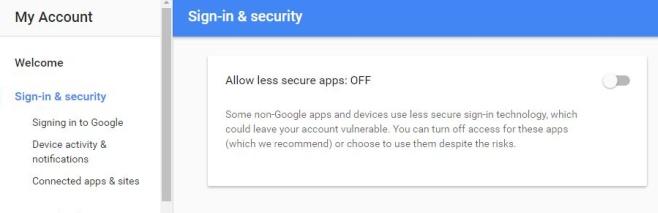 Inicio de sesión y seguridad - Google