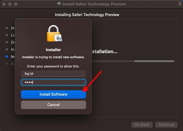 Instalar software: instale el navegador Safari en macOS Big Sur
