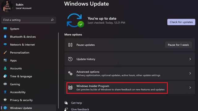 programa interno de windows w11