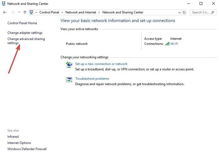 transferir-archivos-linux-windows-via-lan-panel-de-control-red-e-red-de-internet-y-centro-de-uso-compartido-cambiar-configuraciones-avanzadas