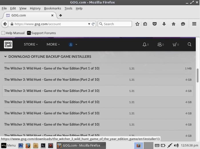 The Witcher 3: Wild Hunt está dividido en varios archivos de juego; deberás descargarlos todos.