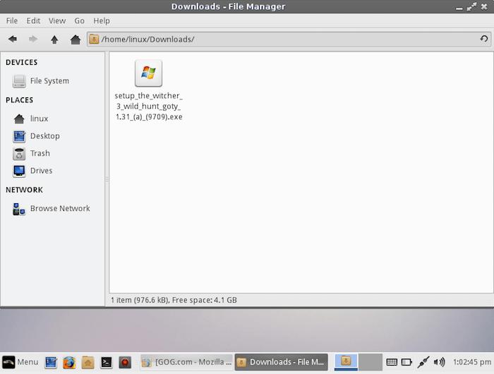 ¡Es hora de instalar Witcher en Linux!  Haga clic con el botón derecho en el archivo