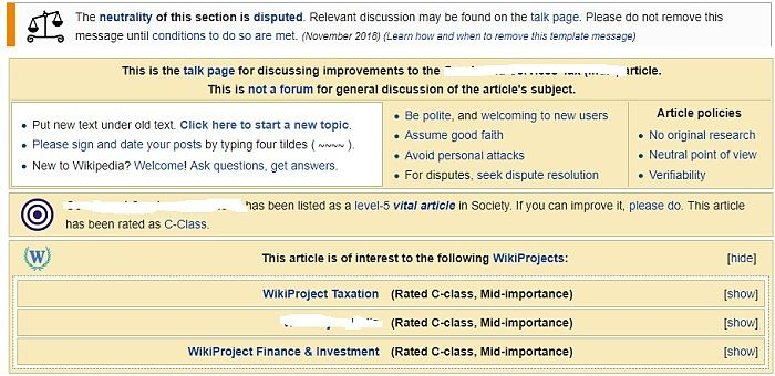 ejemplo de resolución de disputas de wiki en la página de conversación