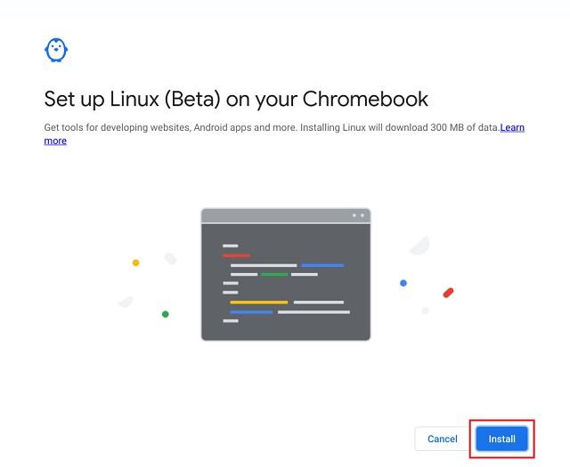 usar linux en chromebook