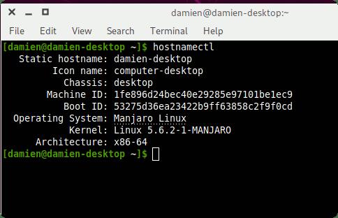 Información de Hostnamectl