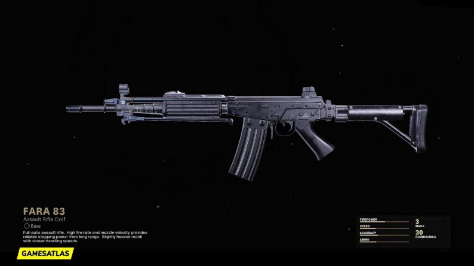 El mejor equipamiento de Warzone de FARA 83 con detalles