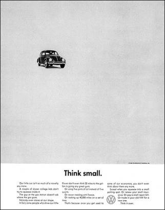 Anuncio de VW Think Small