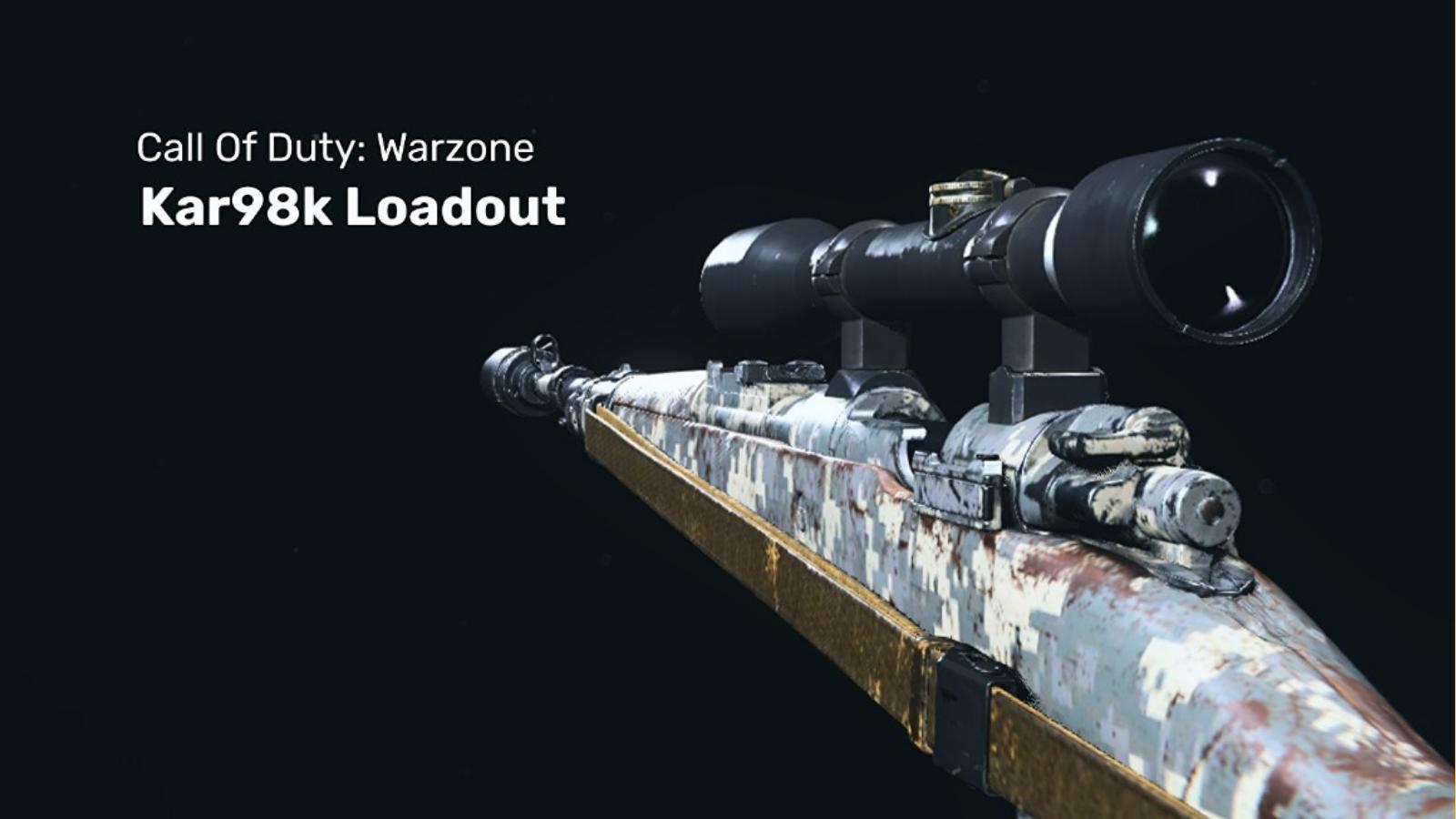 COD Warzone: El mejor equipamiento de Warzone de KAR 98K
