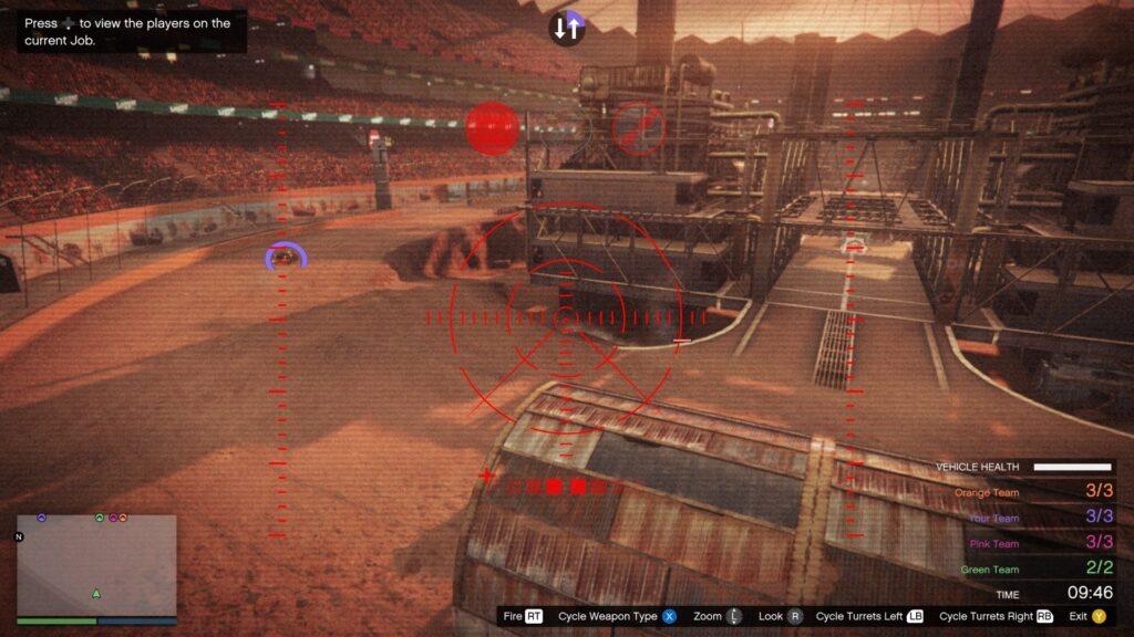 jugador apuntando arma en el modo gta carnage