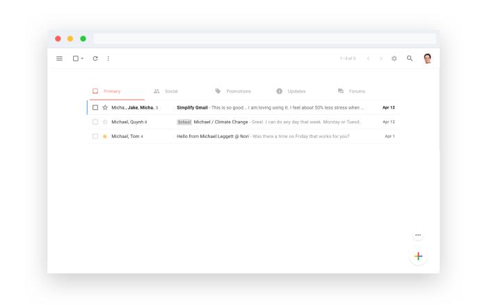 Bandeja de entrada alternativa a Gmail