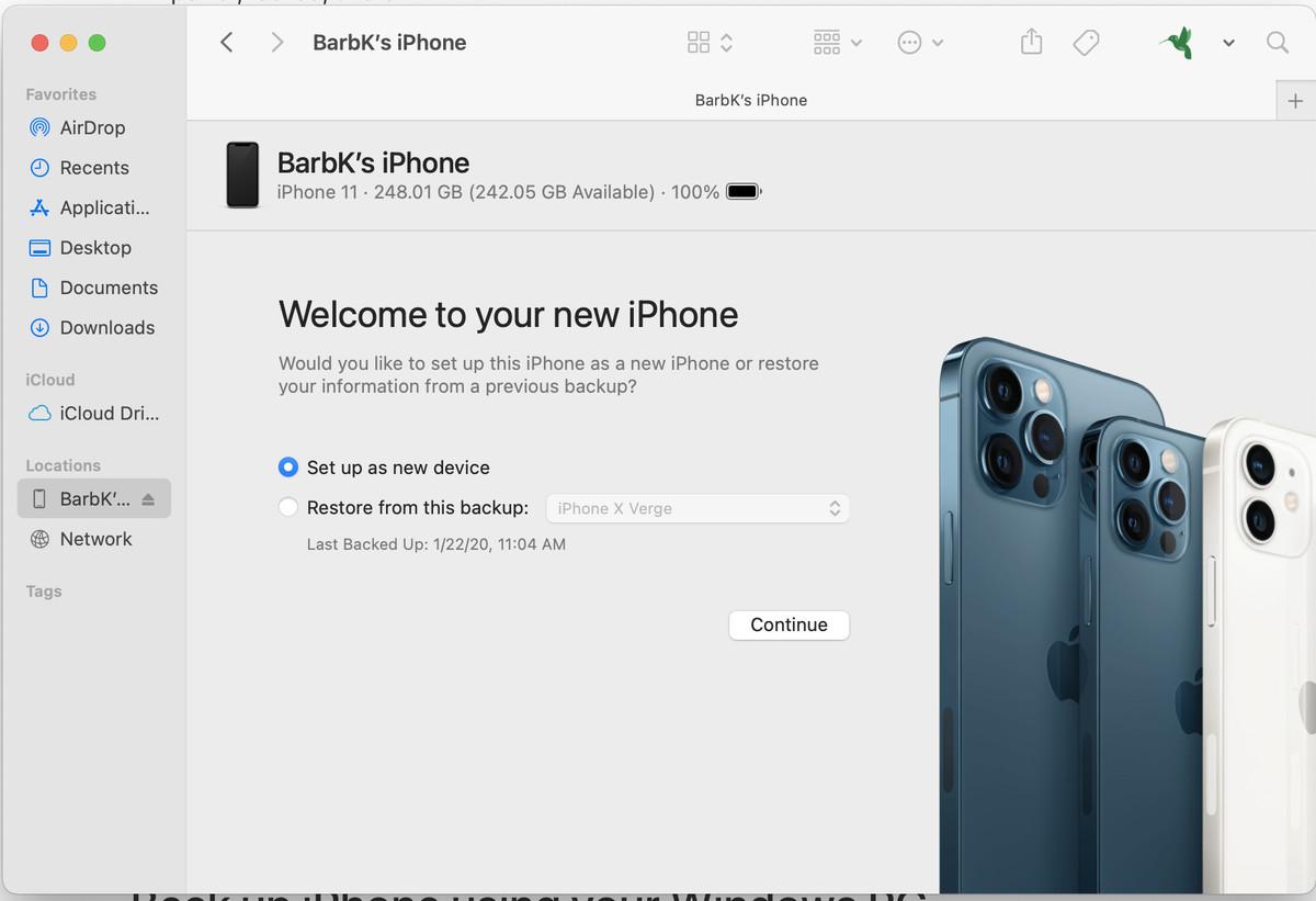 Puede restaurar los datos de un teléfono si ha realizado una copia de seguridad en su computadora.