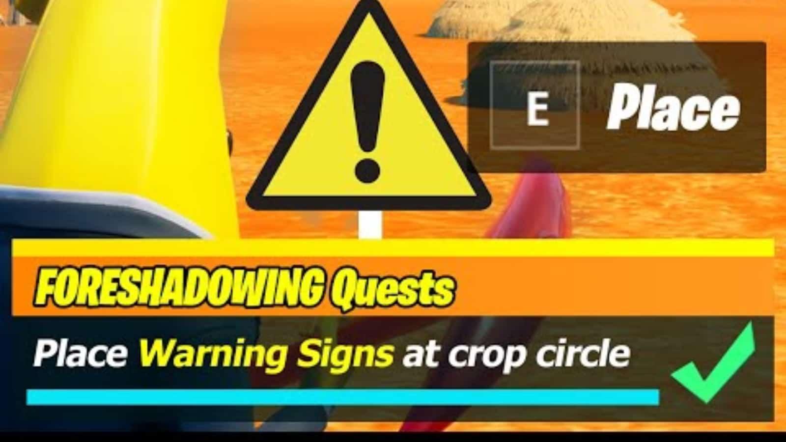 Coordenadas del círculo de cultivos de Fortnite: dónde colocar las señales de advertencia
