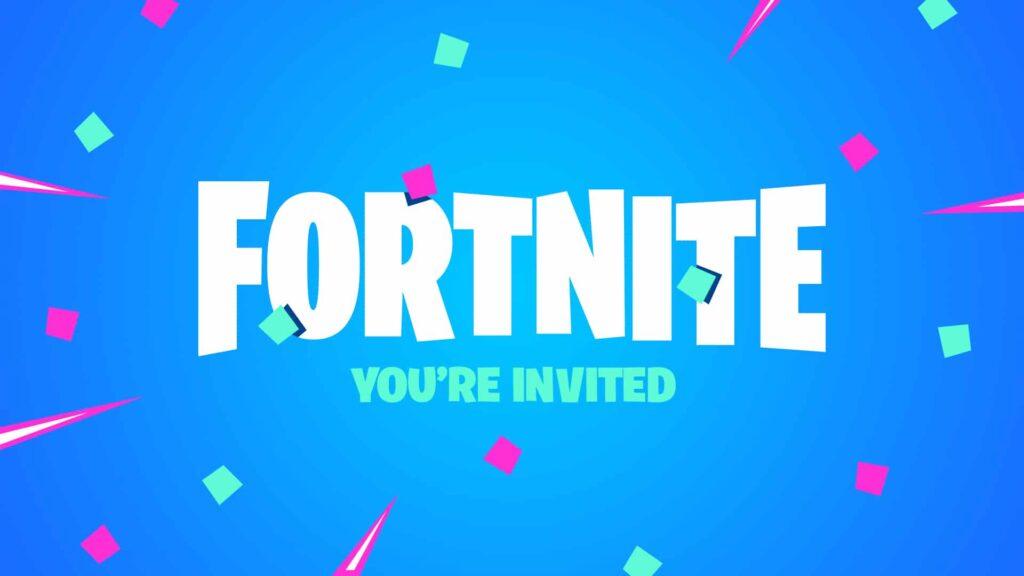 Invitación de cumpleaños de Fortnite