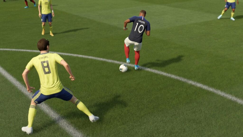 Mbappé jugando a la ruleta en FIFA