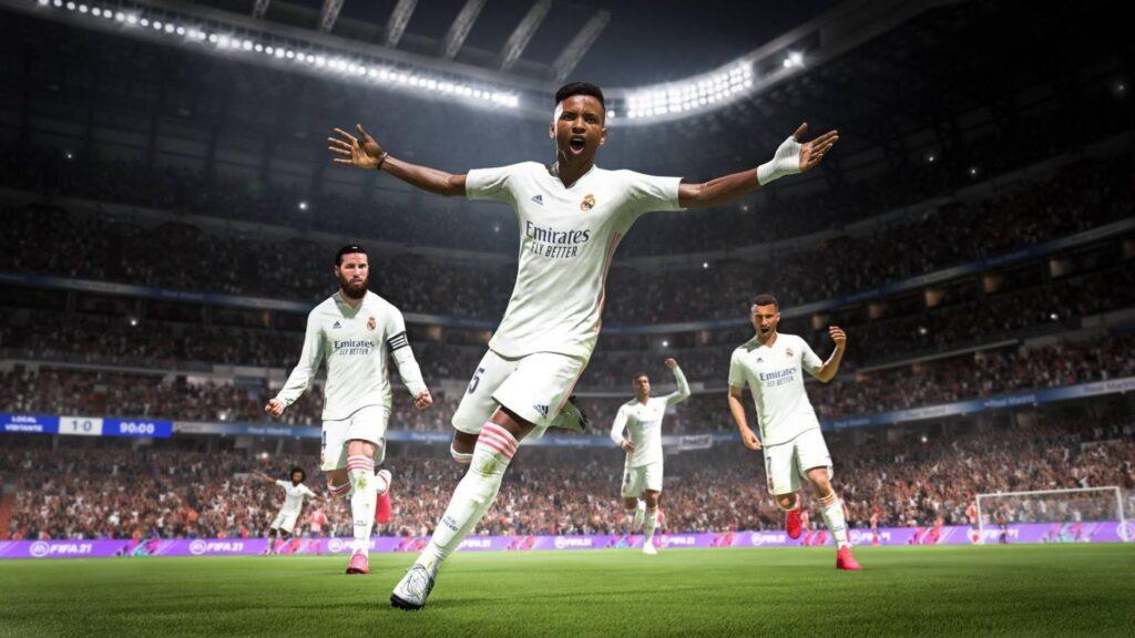 Jugadores del Real Madrid celebrando