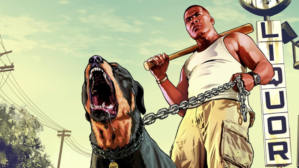 Franklin y Chop de GTA 5