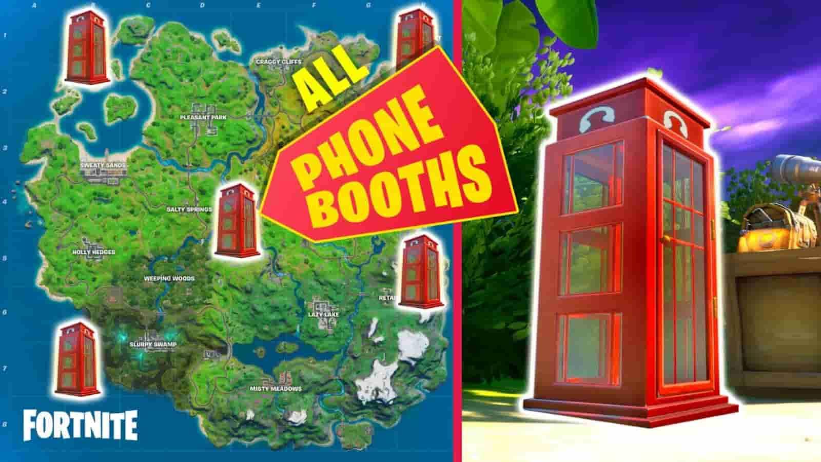 Ubicaciones de las cabinas telefónicas de Fortnite: desafíos de la piel de Superman en la temporada 7