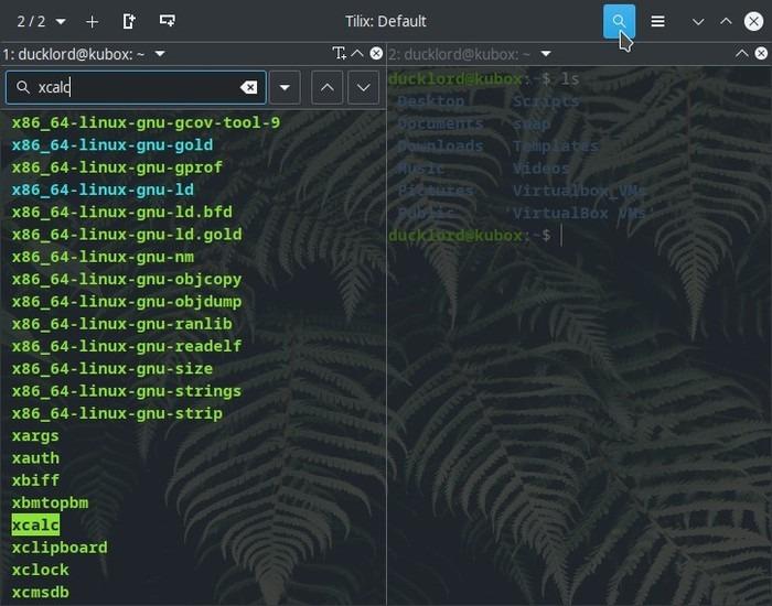 Terminal actualizado con terminal de búsqueda Tilix