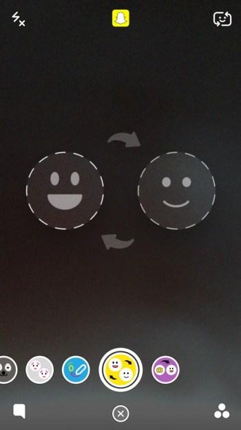 Icono de cambio de cara amarillo