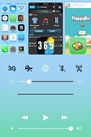 Centro de control de Vertex iOS