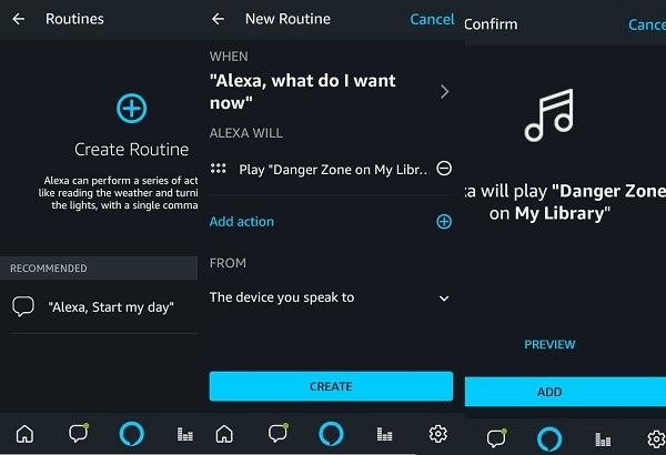 Creación de rutinas en Alexa