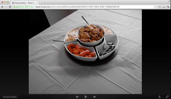 Secuencia de fotos en el navegador estándar