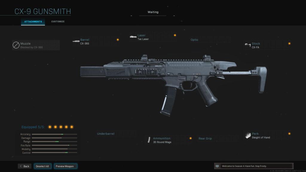 Mejor equipamiento de Modern Warfare CX-9