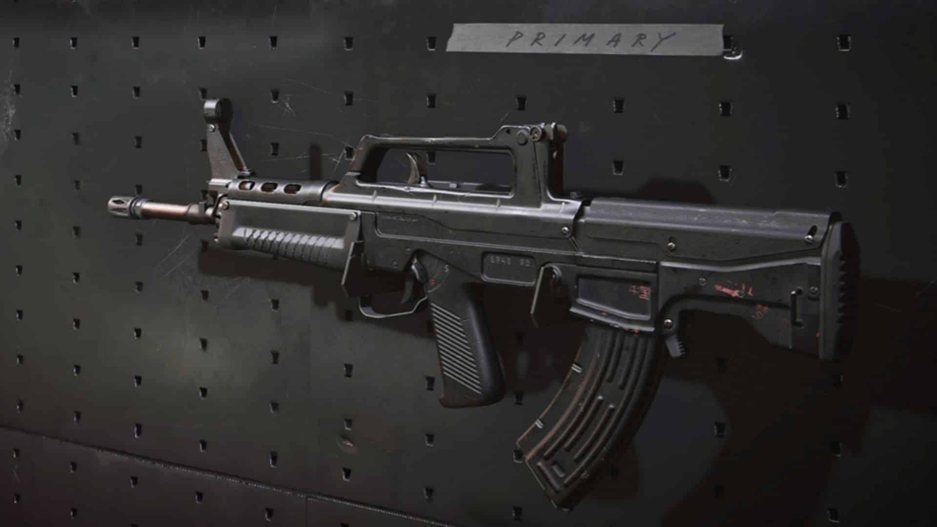 QBZ en el estante de armas en Warzone